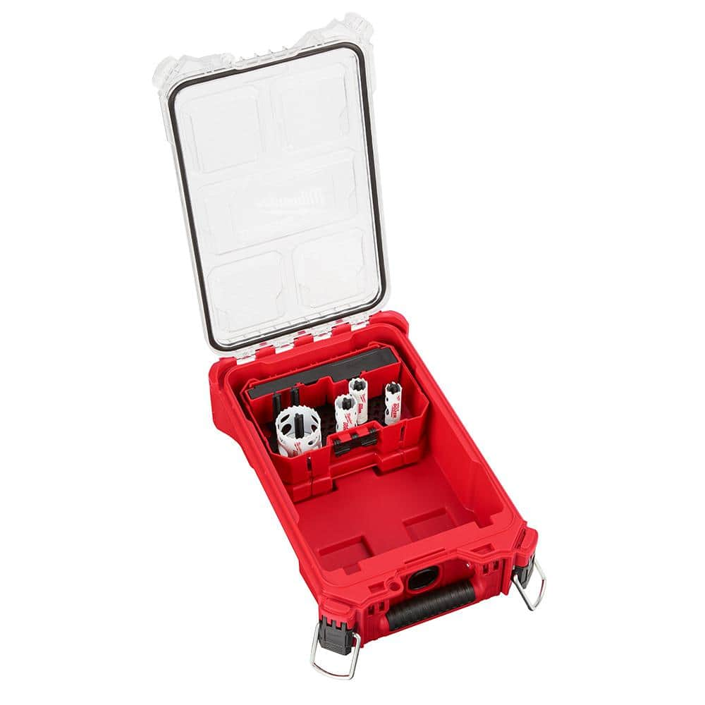 Milwaukee Hole Dozer Bi-Metal General Purpose Hole Saw Set with PACKOUT Compact Organizer (8-Piece), $39.88, free shipping, Home Depot