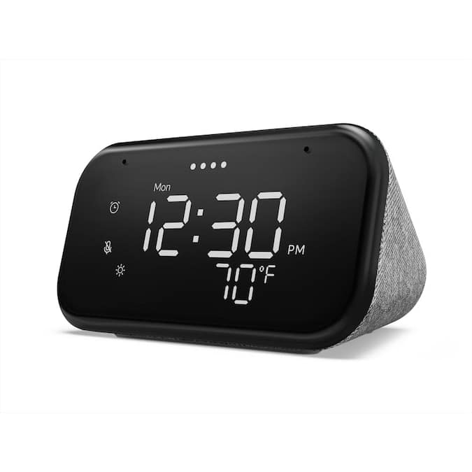 Lenovo Smart Clock Essential, $24.99,  Smart Clock with Google Assistant, $34.99, Lowe's, free pickup