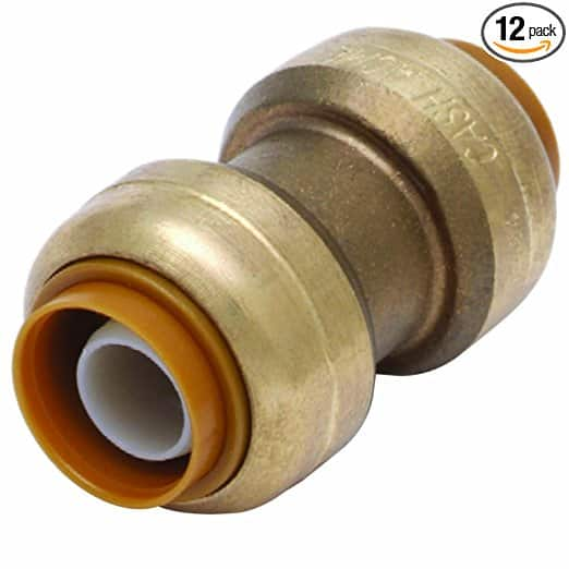 SharkBite U008LF 1/2-Inch Straight Coupling, Pack of 12, $17.71 Amazon Prime OOS WILL SHIP WHEN AVAILABLE