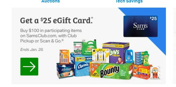 Sams Club Promotion >> Sam S Club Members Get 25 Gift Card When Purchasing 100