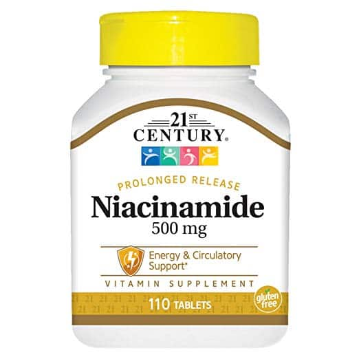 21st Century Niacinamide 500 mg Prolonged Release Tablets, 110-Count, $3.07 w/ Subscribe and Save ($3.23 without) at Amazon, Free shipping for Prime