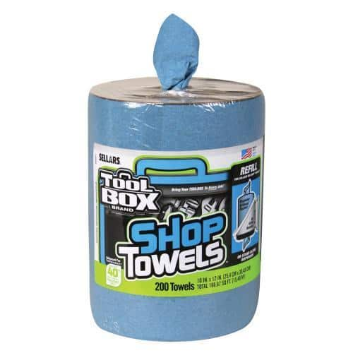 Sellars Toolbox Blue Shop Towels, Big Grip Bucket Refill or standalone, 200 ct $8.40, Free shipping, Pep Boys via ebay