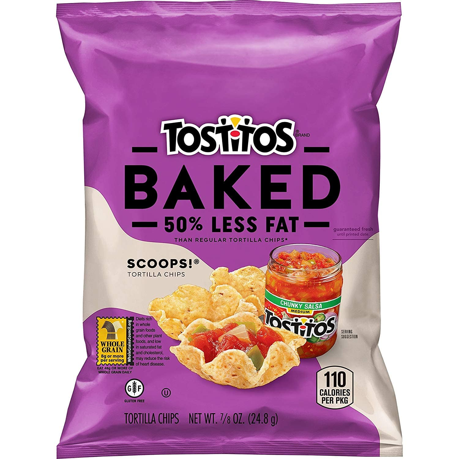 72 ct - BAKED Tostitos Oven Baked Scoops Tortilla Chips, $27.14 after coupon with Subscribe and Save at Amazon