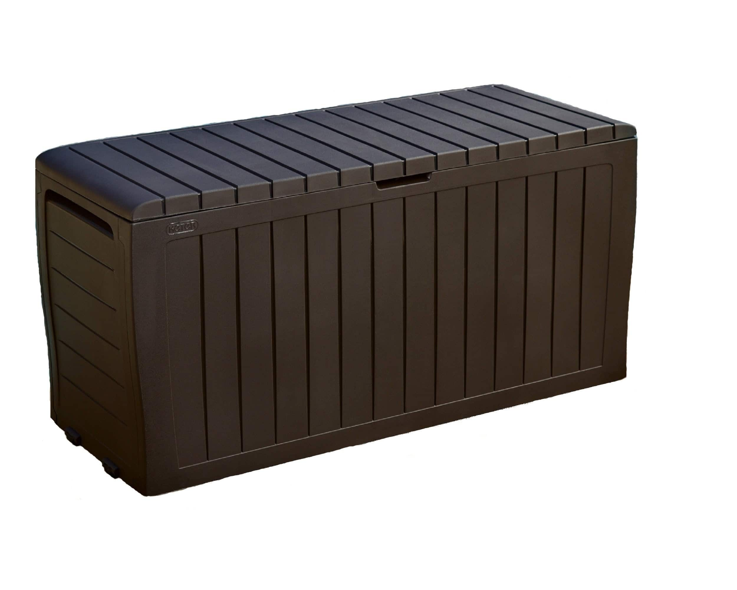 Keter Marvel Plus 71 Gallon Outdoor Storage Deck Box, Espresso Brown, $54.99, Free shipping at Amazon or Walmart