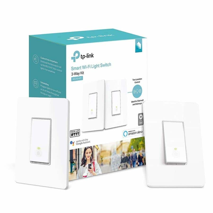 TP Link Smart Wi-Fi Light Switch with 3-Way Kit, HS210 KIT,  $39.99 at Lowe's, Free shipping