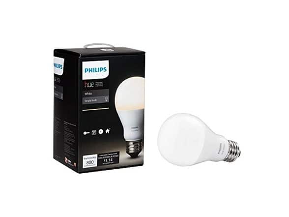 Philips Hue White A19 Single Dimmable LED Bulb, $9.59, Free shipping for Prime members at Woot