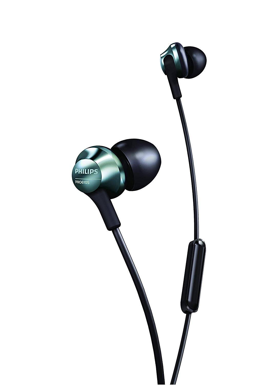 Philips Performance PRO6105 Wired Earphones with Mic, Hi-Res Audio - Black, $19.99, Amazon