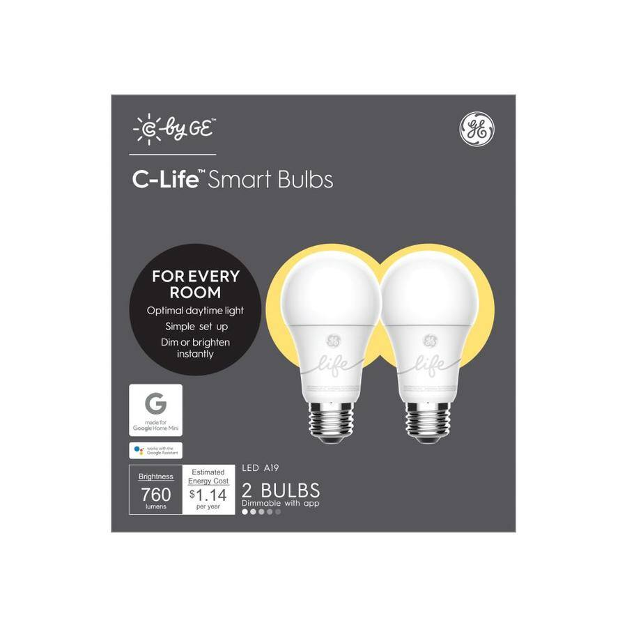 2 pack GE Smart 3-way dimmable A19 LED bulbs, $9.98, Free shipping at Lowes