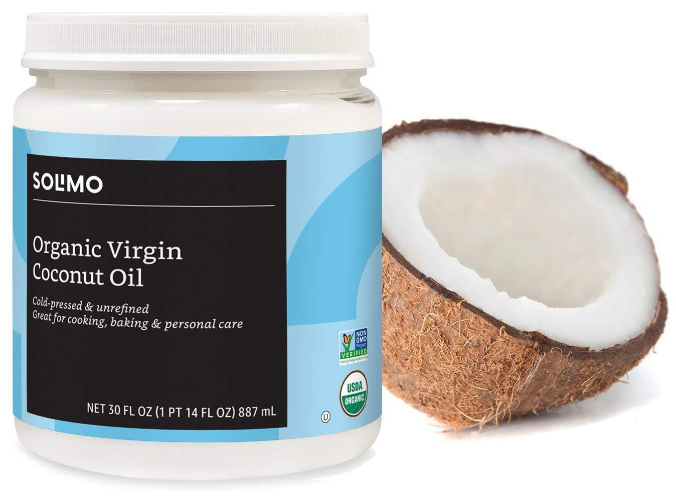 Amazon Brand - Solimo Organic Virgin Coconut Oil, UNREFINED, 30 ounce, $7.99, Free Prime Shipping at Amazon