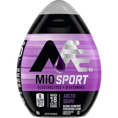 MiO Sport Liquid Arctic Grape Water Enhancer With Electrolytes,1.62 fl oz Bottle, $2, Amazon, eligible for Prime or 15% S&S