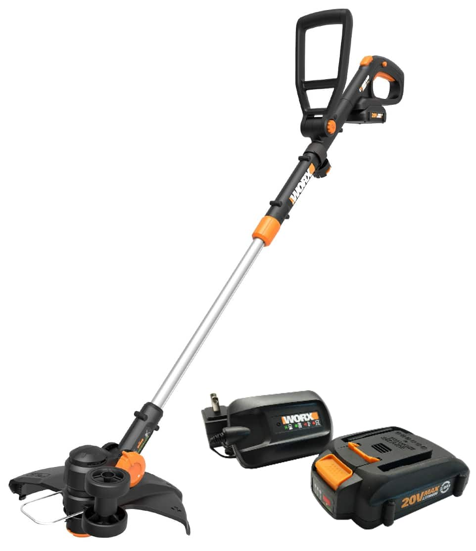 Refurbished WORX WG170 GT Revolution 20V PowerShare Cordless Electric String Trimmer/Edger w/ TWO BATTERIES, $39.10 at ebay