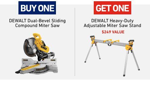 Lowe's free tool deals - Buy Dewalt saw, get stand free, Buy Dewalt combo kit, get select free tool, Buy Craftsman combo kit get circular saw free +more