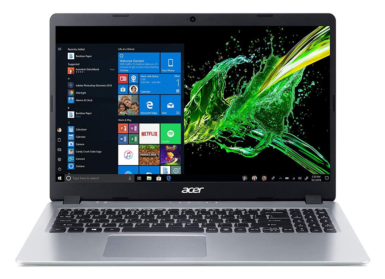 "Back Again : Acer Aspire 5 Slim Laptop, 15.6"" Full HD IPS Display, AMD Ryzen 3 3200U, Vega 3 Graphics, 4GB DDR4, 128GB SSD, Backlit Keyboard, Windows 10 in S Mode, $309.94 at Amazo"
