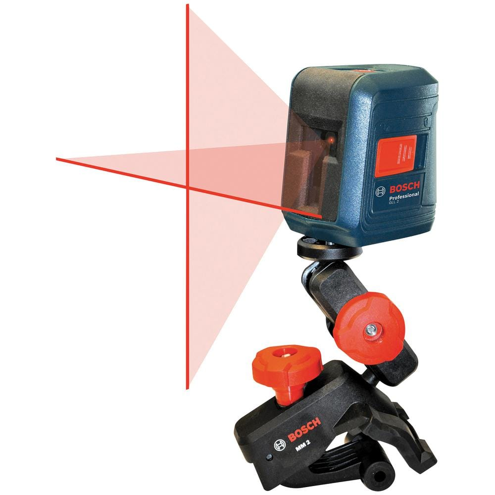 Bosch 30 ft. Self Leveling Cross Line Laser Level with Clamping Mount, $39.88, Home Depot