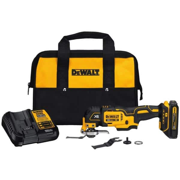 DEWALT Brushless 20-Volt MAX Lithium-Ion Cordless Oscillating Tool Kit w/ 20-Volt Battery 1.5Ah, Charger and Tool Bag, $99, Home Depot