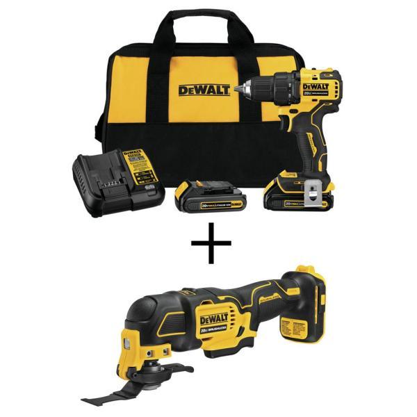 DEWALT at Home Depot,  20V Brushless Drill Driver w/ Bonus Oscillating Tool & 2 batteries, $149, Brushless impact/drill w/ 142pc tool kit, $179, 6 ct batteries, $179 + MORE