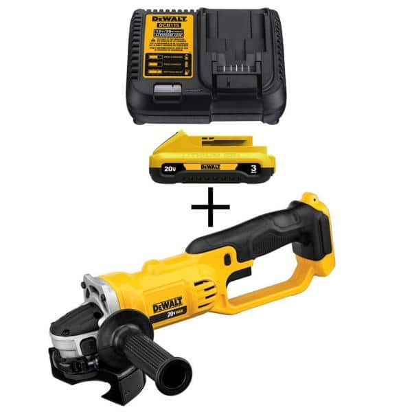 Dewalt 20-Volt MAX Lithium-Ion Cordless 4-1/2 in. Grinder (or reciprocating saw or circular saw) with Bonus Battery Pack 3.0Ah and Charger, $109, Free shipping at Home Depot