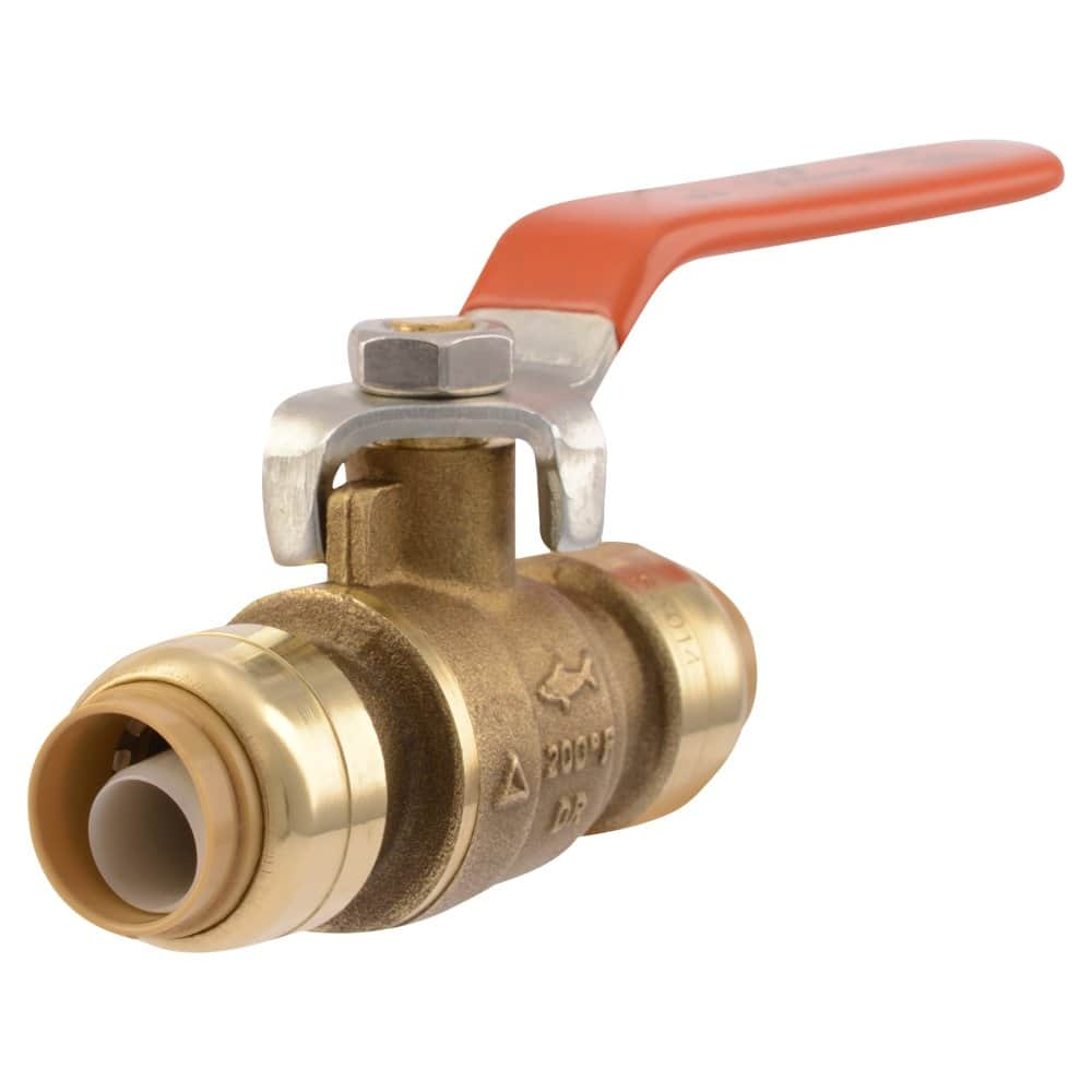 SharkBite Ball Valve 1/2 Inch x 1/2 Inch, Water Valve Shut Off, Push-to-Connect, PEX, Copper, CPVC, PE-RT, $12.28, Prime shipping, Amazon