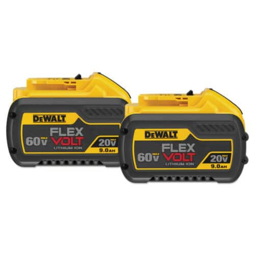 2 pack DEWALT DCB6092 20V/60V MAX FLEXVOLT 9 Ah Li-Ion Battery, $199.99, CPO via ebay
