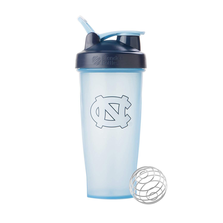 In stock Jan 14, BlenderBottle Collegiate Classic 28-Ounce Shaker Bottle, University of North Carolina Tar Heels - Light Blue/Dark Blue, $5.84, Free Prime shipping