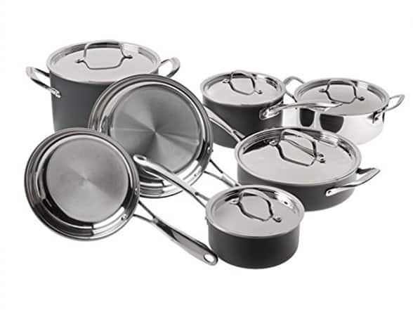 Woot : Cuisinart 12-Piece Clad Induction Cookware Set, $99.99, Free Prime shipping