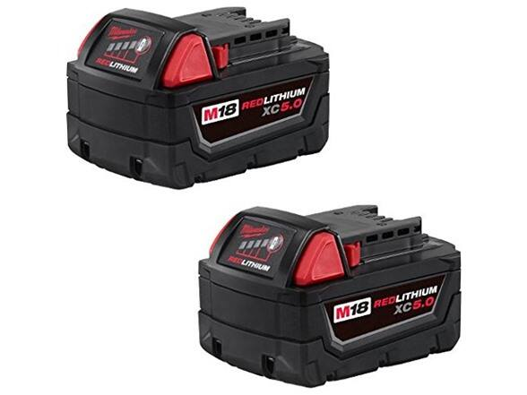 Woot : 2 pack Milwaukee M18 REDLITHIUM XC 5.0 Ah Extended Capacity Battery , $95.82, Free Prime shipping