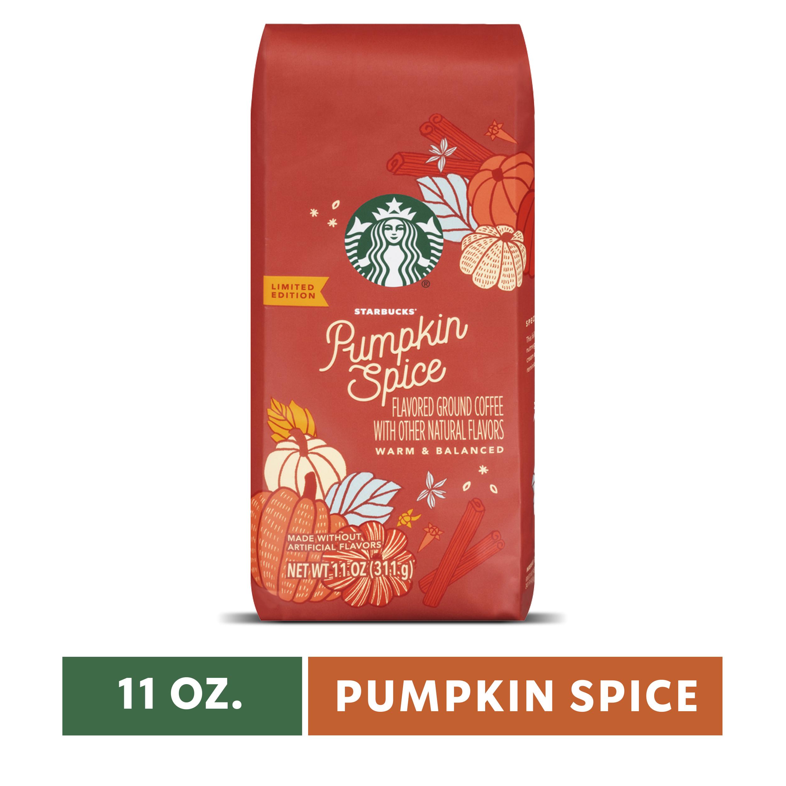 Starbucks Pumpkin Spice Flavored Ground Coffee, Medium Roast 11-Ounce Bag, $3.15, Walmart, shipping only