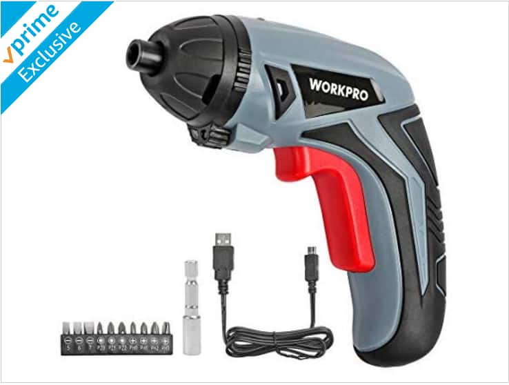 Woot : WORKPRO Cordless Rechargeable Lithium Ion Power Screwdriver, $9.99, Free Prime shipping