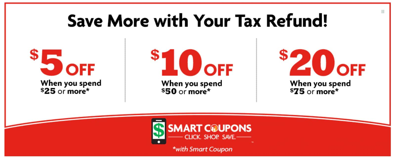 Family Dollar in store digital coupons, $5 off $25, $10 off $50, $20 off $75