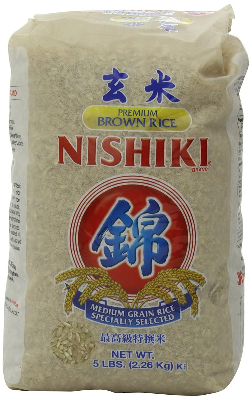 5lb NISHIKI Premium Brown Rice, $4.79 with S&S, Amazon