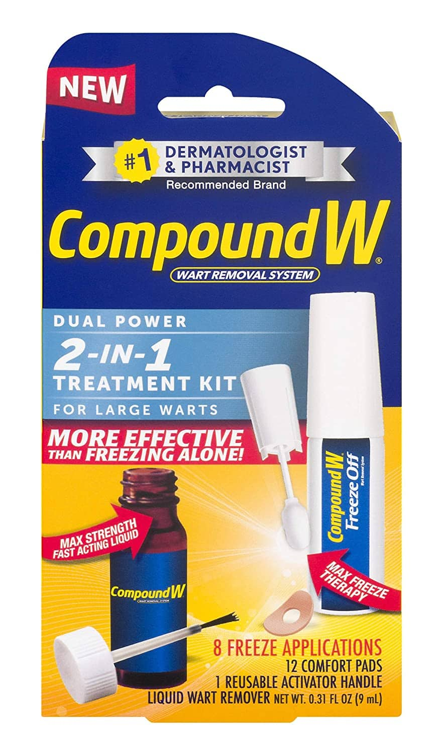 Compound W 2-in-1 Wart Removal Kit | Liquid Wart Remover | 8 Freeze Applications, $8.55 w/ S&S, Amazon