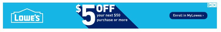 YMMV : New MyLowe's members, receive $5 off $50 coupon with sign up