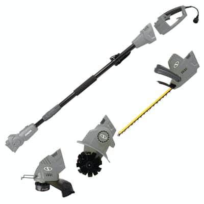 Sun Joe GTS4000E-GRY Electric Lawn Care System | Pole Hedge Trimmer | Grass Trimmer | Garden Tiller (Gray), $99.99, free shipping