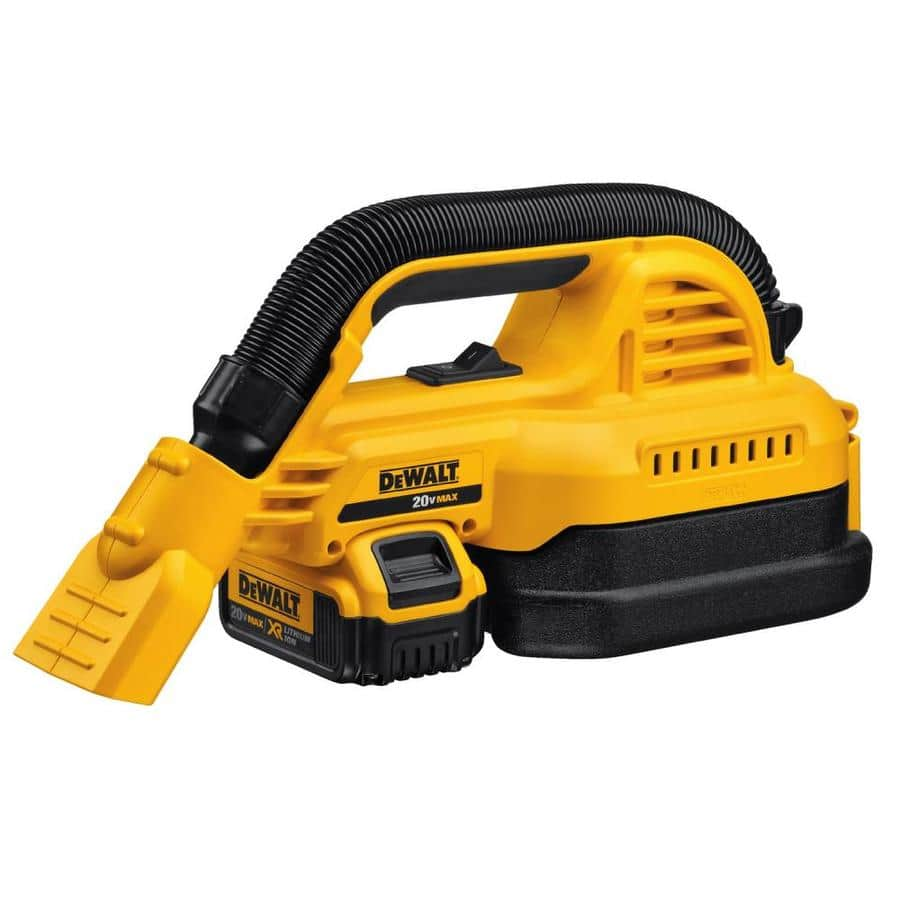 DEWALT 20-Volt Max 0.5-Gallon Cordless Handheld Wet/Dry Shop Vacuum with 4.0 AH battery, $129, free shipping, Lowe's