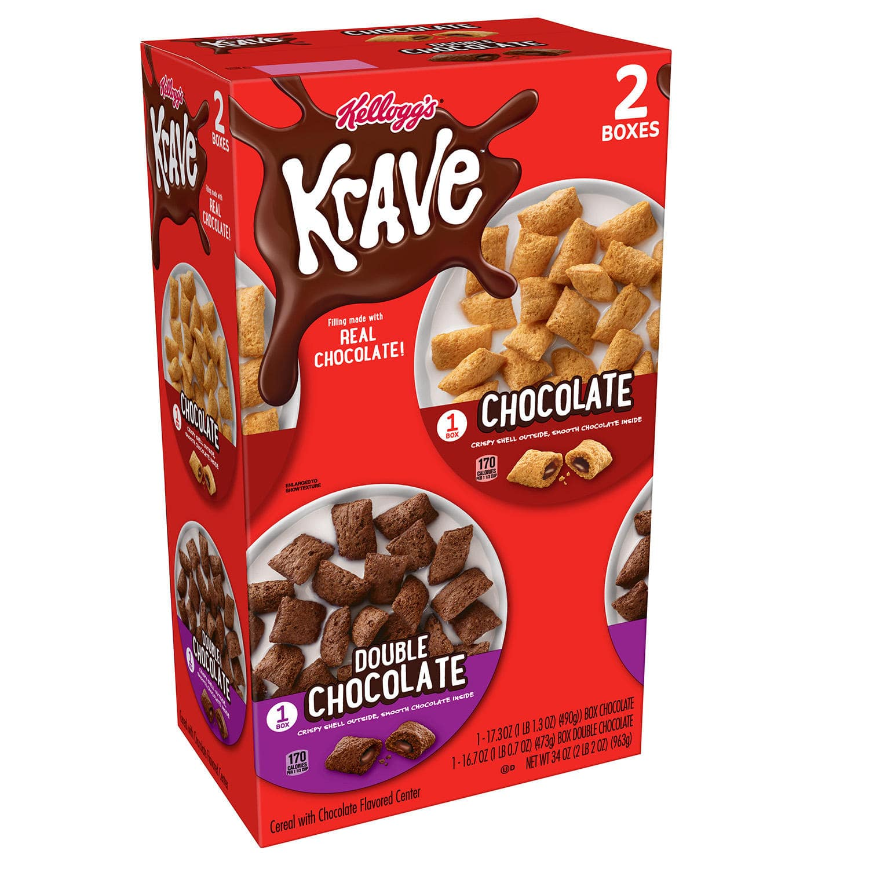Sam's Club Members : Kellogg's Krave, Variety Pack (34 oz.), $3.98, Raisin Bran Crunch Cereal (42 oz.), $4.78, Kellogg's Froot Loops Cereal (43.6 oz.), $4.48, free shipping