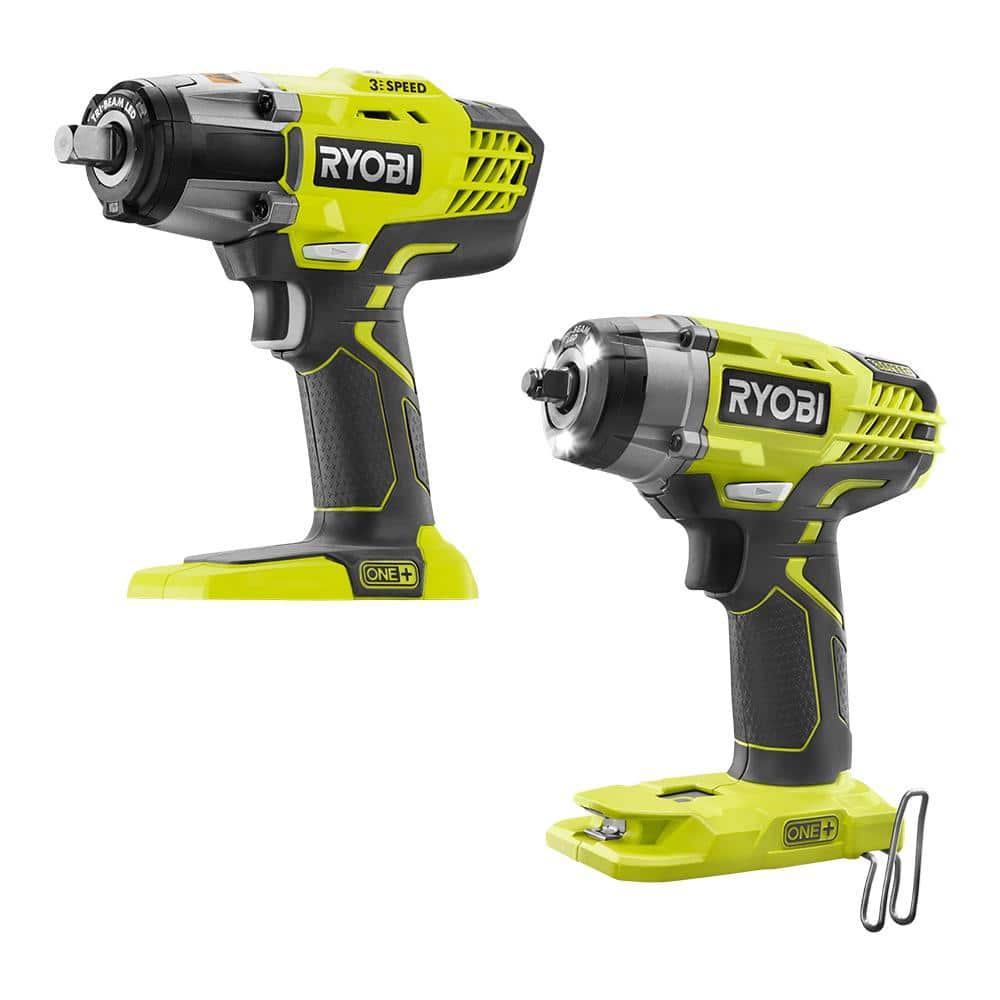 Ryobi ONE+ 18V Cordless Combo Kit with 3-Speed 1/2 in. Impact Wrench and 3/8 in. 3-Speed Impact Wrench (Tools Only), $109, free shipping, Home Depot