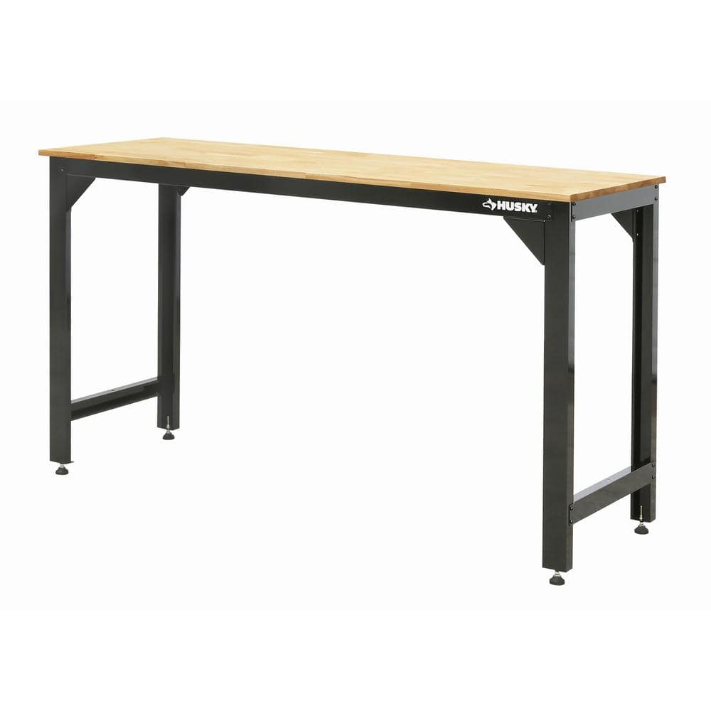 HUSKY 6 ft. Solid Wood Top Workbench $181.99, 6 ft. Adjustable Height Workbench, $259.99, free shipping, Home Depot