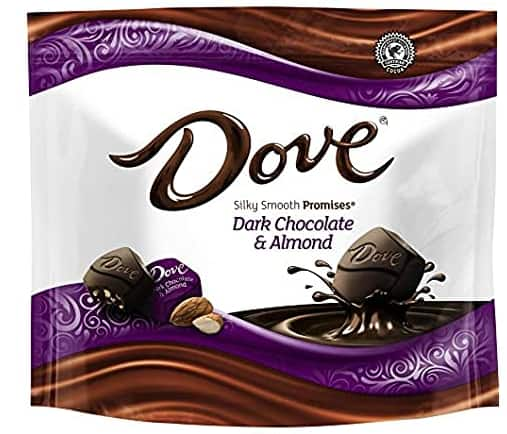 Woot, 8 pack, 7.6 oz, DOVE PROMISES Chocolate Candy, Almond Dark Chocolate or Peanut Butter Milk Chocolate, $18.99, free shipping for Prime