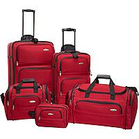 eBags Deal: New Samsonite 5-Piece Travel Set Luggage 4 Colors Luggage Set - $99.99 w/ FS