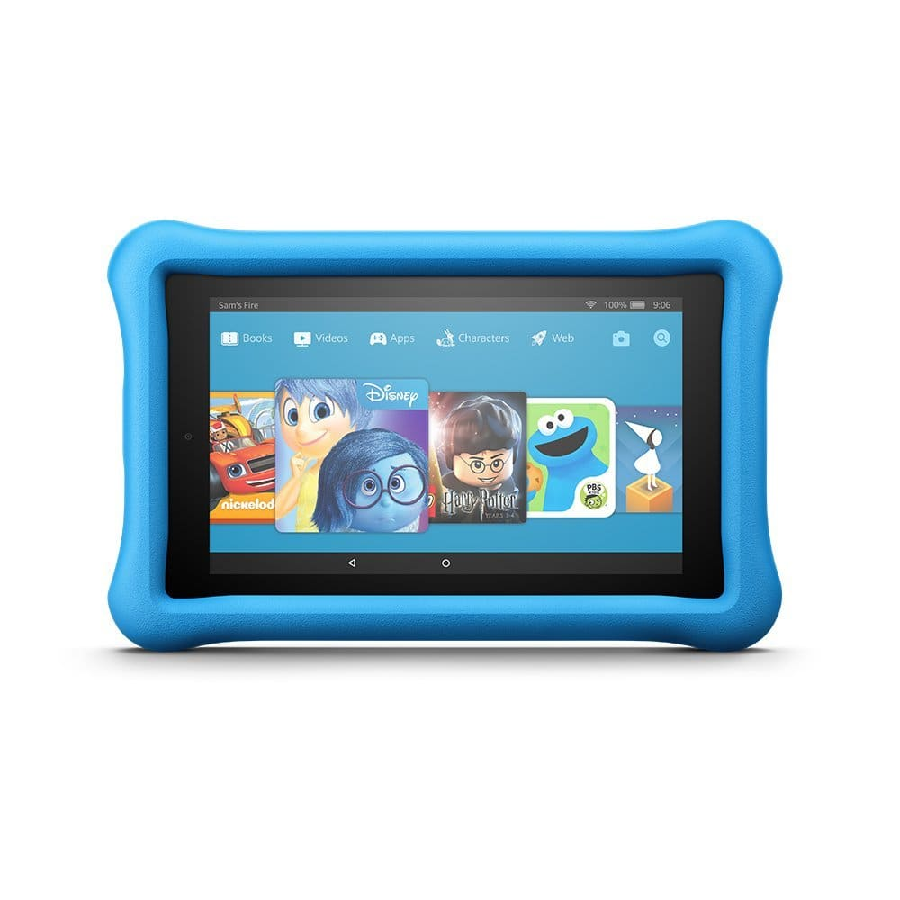 "Fire 7 Kids Edition Tablet, 7"" Display, 16 GB, Blue Kid-Proof Case [Blue, Base] $79.97"