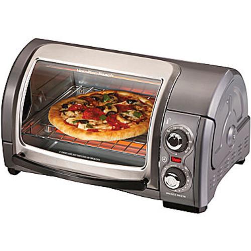 Hamilton Beach - Easy Reach 4-Slice Toaster Oven - Metal $27.88