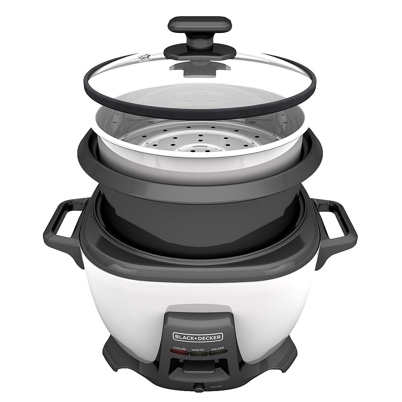 BLACK+DECKER 14-Cup Rice Cooker with Sauté, White, RCS614 on Walmart $25.51