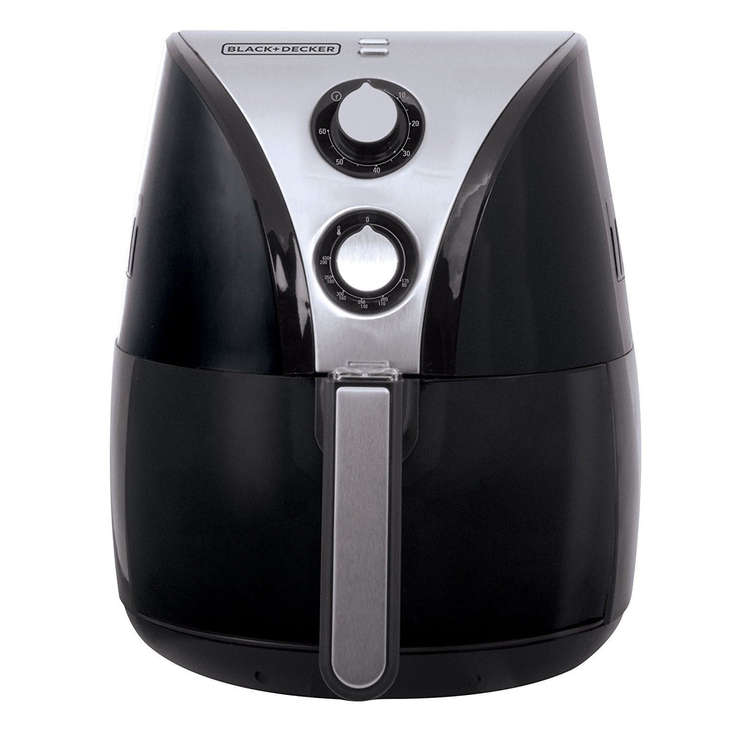 BLACK+DECKER Purify 2-Liter Air Fryer, Black/Stainless Steel, HF110SBD [Black] sold by Amazon $50