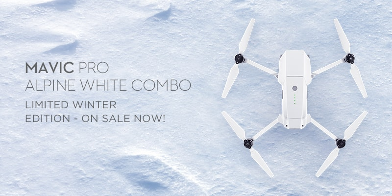 DJI Mavic Pro Drone Alpine White Combo Save $50! $1098.98