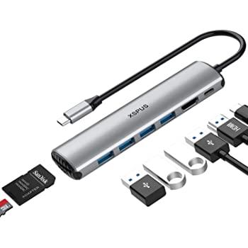 XPSUS USB-C Hub 8 in 1: HDMI, 4x USB 3.0, SD/MicroSD Reader, 65W PD $18.99 Amazon