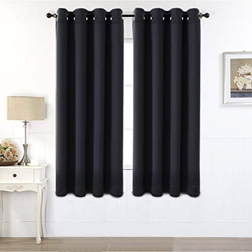 99% Blackout Window Curtains Grommets Drapes 2 Panels Set Room Darkening Thermal Insulated Blackout Drapes for Bedroom, Living Room $8.37