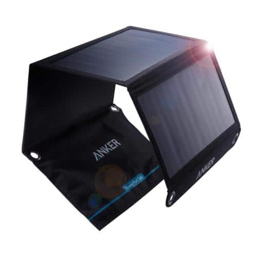 Anker 21W Dual USB Solar Charger PowerPort Solar for portable devices $40+tax AC at eBay