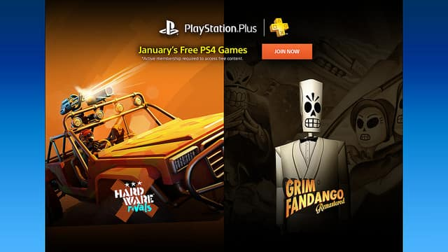 Free PlayStation Plus Games for Jan.(Grim Fandango: Remaster on PS4 and others)