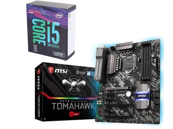Intel I5-8600k & MSI z370 Tomahawk bundle $364.98 + $20 MIR