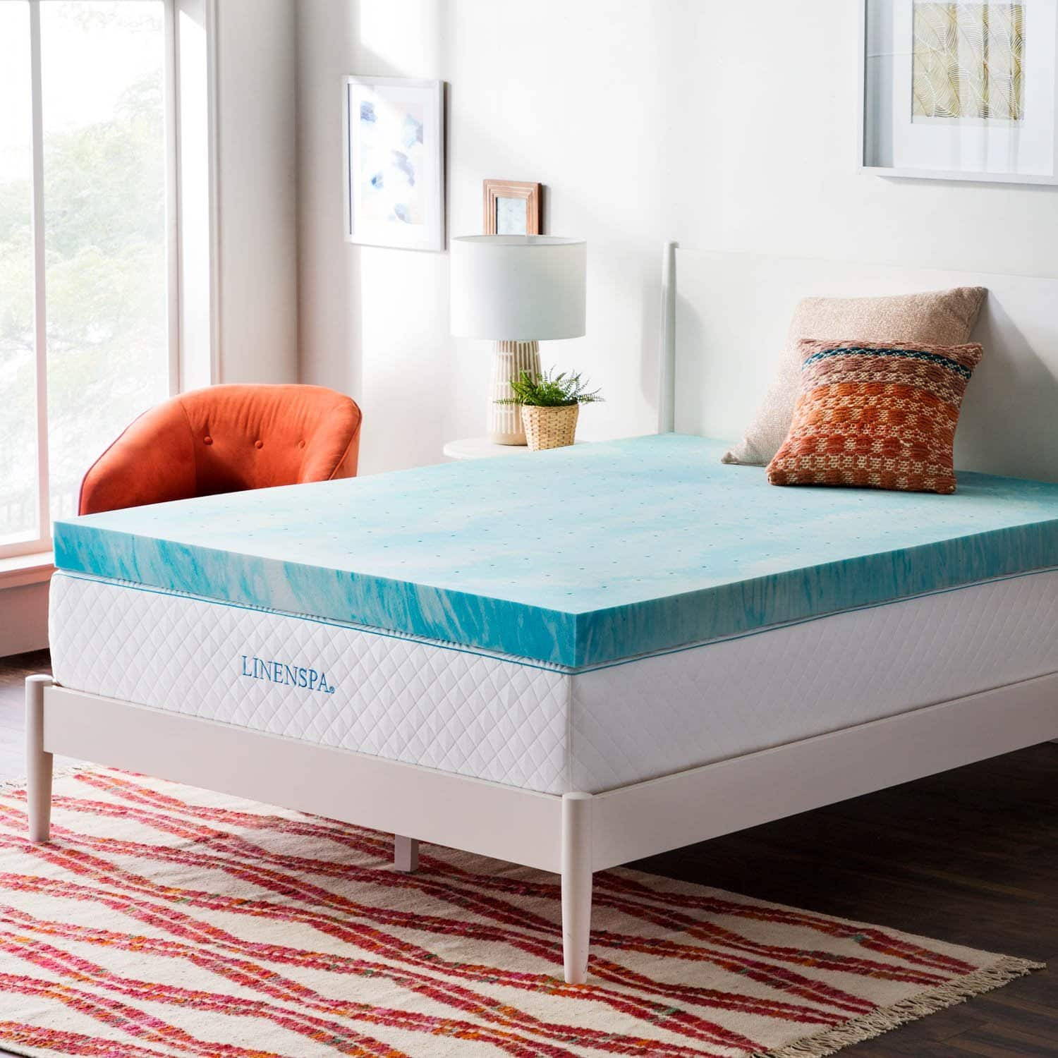"Linenspa 2"" and 4"" Swirl Memory Foam Mattress Topper – 30% off starting at $45.99"